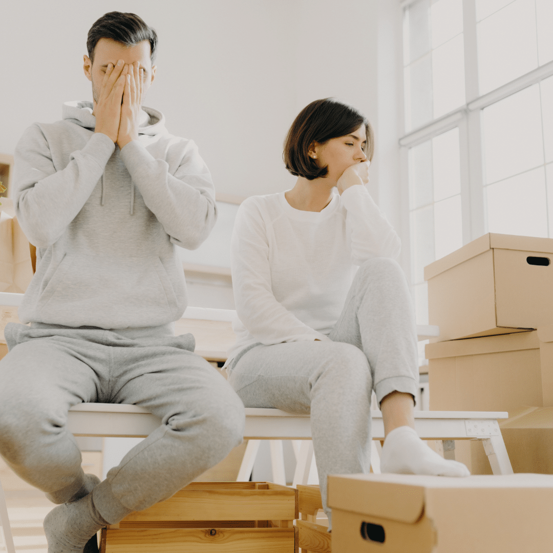 couple worried about money during a divorce